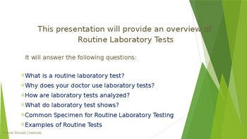 Clinical Routine Laboratory Tests