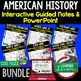 Clinton and Bush Notes & PowerPoints, US History, Print, Digital