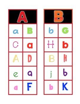 Clip-A-Dee-Do-Dah Letter Matching