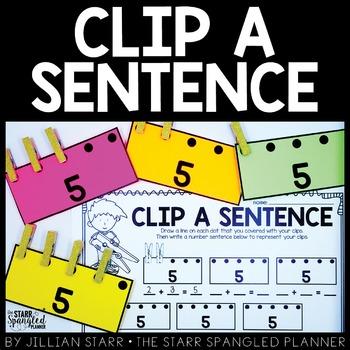 Clip A Sentence: Number Sense Math Center