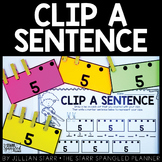 Clip A Sentence: Number Sense Math Center