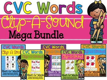 Clip-A-Sound CVC Words {Mega Bundle}
