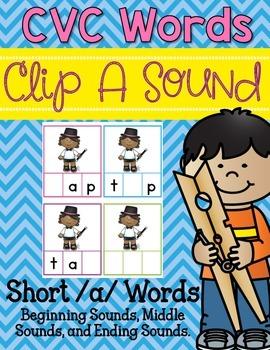 Clip-A-Sound CVC Words {Short a}
