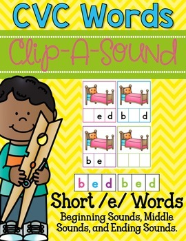 Clip-A-Sound CVC Words {Short e}