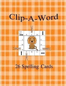 Clip-A-Word Spelling Task Cards