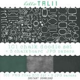 Clip Art: 101 Chalkboard Doodles + 3 Chalkboard Paper Backgrounds