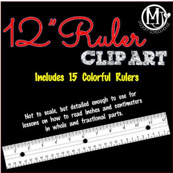 """Clip Art - 12"""" Rulers"""