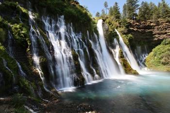 Clip Art * 150 Photographs of Waterfalls Remote & Scenic Found in Northwest U.S.