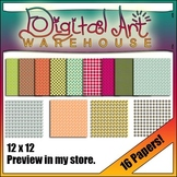 Clip Art 16 Digital Papers Backgrounds Spring Background P