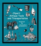 Clip Art - 19th Century Tools and Transportation - vintage style