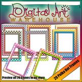 Clip Art: 20 Super Cool Polka Dot Borders