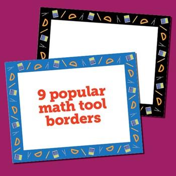 Clip Art: 30 Math Borders