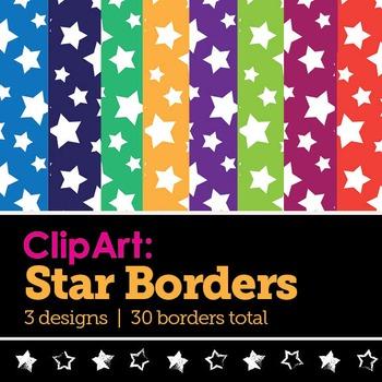 Clip Art: 30 Star Borders