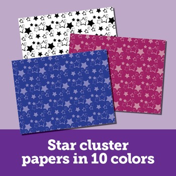 Clip Art: 30 Star Papers