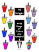 Clip Art - 40 Rainbow and Pattern Cold Drink Cup Images with Easy Commercial TOU