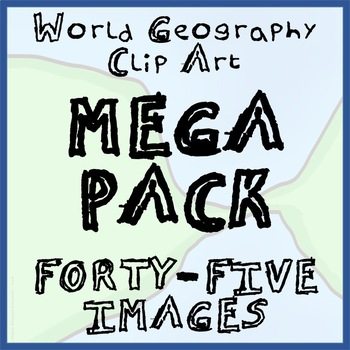 46-Image World Geography Clip-Art MEGA-PACK - Ready to Use!