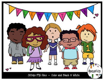 Elementary Kids Clip Art. Student Clip Art. School Clip Art. 10 Pieces.