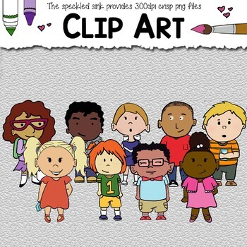 Welcome Back Pack. Elementary Kids Clip Art. 27pc Students & School Clip Art.