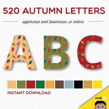 Clip Art: 520 Autumn Letters