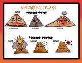 Clip-Art: 6 Volcano Types (Fun Anime Style!)