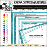 Clip Art: 84 Colorful Doodle Page Borders