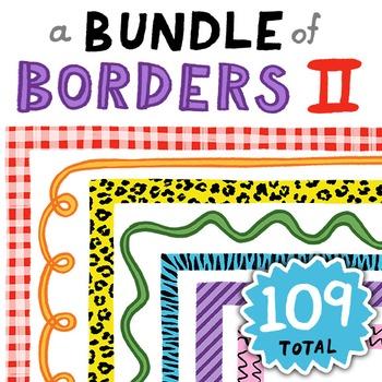 Clip Art: A Bundle of Borders 2! 109 Colorful Borders