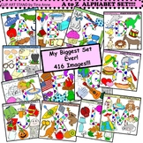 Clip Art A to Z Alphabet Mega Set