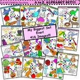 Clip Art A to Z Alphabet Mega Set