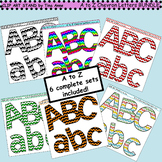 Clip Art A to Z Chevron Letters BUNDLE
