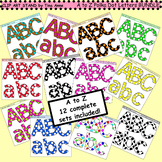 Clip Art A to Z Polka Dots Letters BUNDLE