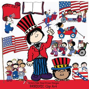 Clip Art AMERICAS KIDS Patriotic Clip Art