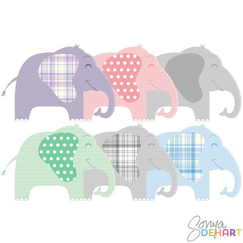 Clipart - Adorable Baby Elephants