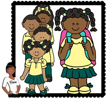 Clip Art~ African American Students Wearing Uniforms