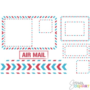 Frames -  Air Mail Postal Postage Clipart