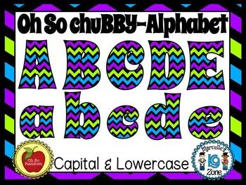 Clip Art Alpha   Chubby Chevron