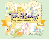 "Clip Art Alphabet, Baby Nursery Theme, 96 PNGs, 4"" 300DPI, 96-PG. Vector PDF"