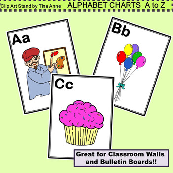 Clip Art Alphabet Charts A to Z