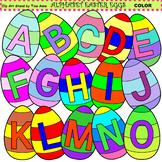 Clip Art Alphabet Easter Eggs