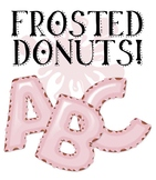 "Clip Art Alphabet, Frosted Donuts, 96 PNGs, 4"" 150DPI, 96-PG. Vector PDF"