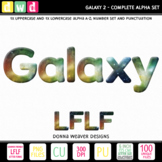 Clip Art Alphabet GALAXY 2 LFLF Printable Letters Numbers