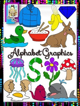 Clip Art~ Alphabet Graphics with BONUS Letter Images!