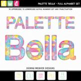Clip Art Alphabet PALETTE BELLA Printable Letters Numbers