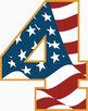 "Clip Art Alphabet, Patriotic Stars & Stripes, 96 PNGs, 2.5"" 300DPI"