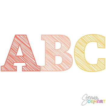 Alphabet - Scribble Letters for Girls Clipart