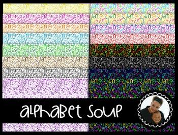 Clip Art~ Alphabet Soup Digital Paper Collection