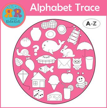 Clip Art Alphabet Trace