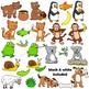Clip Art Animals and their Food | Clipart BUNDLE
