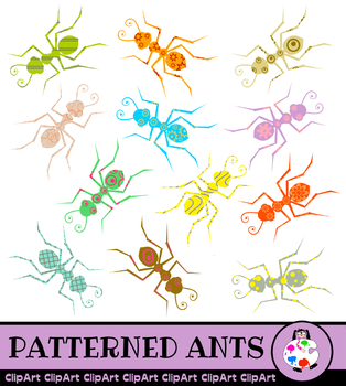 Clip Art Ants - Insect Icon Graphics