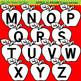 Clip Art Apple Alphabet black and white