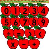Clip Art Apple Numbers